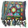Hippie Tassel Ethnic Shoulder Bag Tote Messenger Hmong Vintage Embroidery Boho