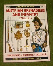 OSPREY MILITARY WARRIOR SERIES 24 AUSTRIAN GRENADIERS AND INFANTRY 1788-1816