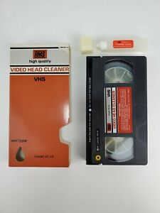 Vintage RMS VHS Video Cassette VCR Tape Head Cleaner Wet System VC-H1