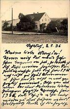 UCHTDORF 1936 seltene private Echtfoto-AK eines Wohnhauses Dt. Reich gelaufen