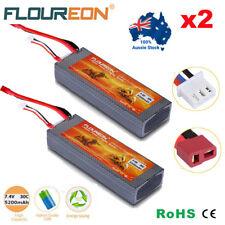 2x 7.4V 5200mAh 2S 30C Lipo Battery Hard Case Deans Plug for RC Car Airplane Lot
