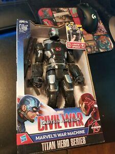 MARVEL CIVIL WAR WAR MACHINE **LIGHTS + TALKING* Titan Hero Series avengers New