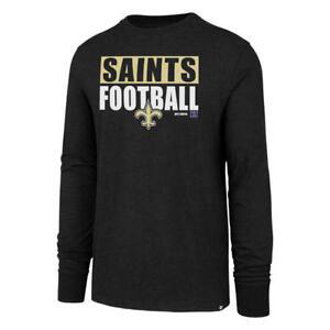 New Orleans Saints Long Sleeve Black Shirt Block Stripe '47 Sizes S-XXL