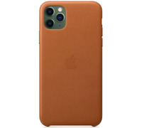 Sattelbraun iPhone 11 Pro Max Apple Echt Original Leder Hülle Leather Case