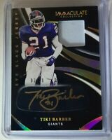 2020 Panini Immaculate Eye Black Jersey Patch Auto Tiki Barber /10 SP Giants