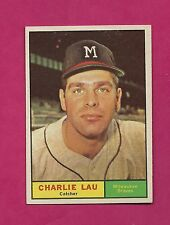 1961 TOPPS # 261 BRAVES CHARLIE LAU  EX-MT CARD (INV# A2418)