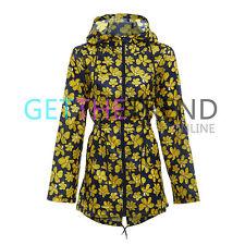 Women Raincoat Ladies Lightweight Shower Rain Kagool Hooded Festival Jacket Coat