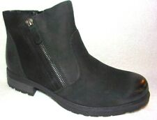 Earth Jordan Black Vintage Leather Ankle Boots 7.5 W