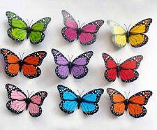 3D Artificial Butterflies Craft with Stick for Festival Party Wedding Decoration