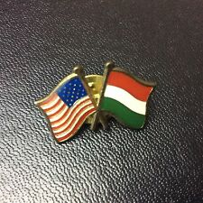 America - France Friendship Enamel Badge - Pin Badge - Vintage