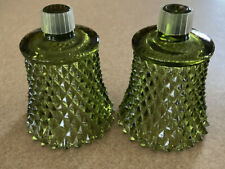 """Home Interior Forest Green Diamond Cut Votive Cups w/Grommets - Set of 2 - 3"""""""