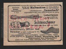 Hamburgo, publicidad 1916, Gustav Pabst solenschoner barras de calzado