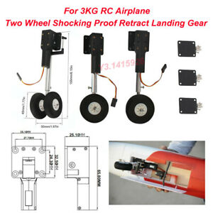 Two Wheel Shocking Proof Retract Landing Gear Protective Set For 3KG RC Airplane