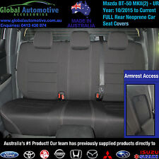 Mazda BT50 MkII2 Front and Rear Neoprene Seat Covers BT-50 -(UR) Model-XT XTR GT
