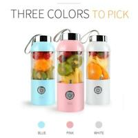 500ml Portable USB Rechargeable Electric Juicer Bottle Cup Fruit Blender Mixer