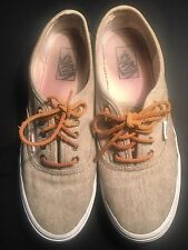 VAN'S Canvas Linen Beige Sneaker Shoes Woman's 9.5 Men's 8