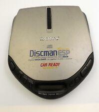 Sony Discman Silver/Black Portable Car Ready Avls Cd Player D-E307Ck Tested