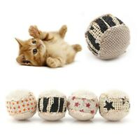 4PcsBall Cat Toy Play Chewing Rattle Scratch Catch Pet Kitten Cat Toy Balls #HD3