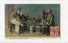 China 1913 Chinese Pipe & Opium Smoker Post Card RARE