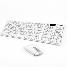 White Wireless 2.4GHz Gaming Keyboard and Mouse Combo Set Power Saving B4M7