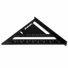 Quick Roofing Rafter Triangle Ruler Guide 7'' Black Aluminum Alloy Speed Square