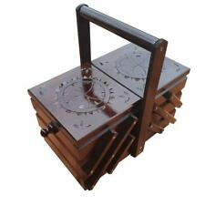 More details for  wooden sewing box 29 cm in dark brown color