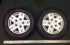 Pair Primo Powertrax Wheels / Tires 3.00-8 Solid Grey Jazzy Wheelchair Quantum