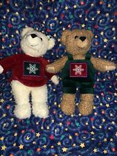 "Set of Hallmark Kiss Kiss Bears 9"" Plush Stuffed Toys"
