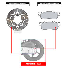 BREMBO REAR DISC (+ BRAKE PADS) - KYMCO PEOPLE S 300 (08-10) - 68B407B2