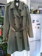H&M Ladies Kharki Double Breasted Belted Trench Coat Size 18