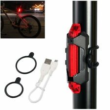 Luz de 5 led trasera bicicleta bateria recargable usb flash impermeable roja