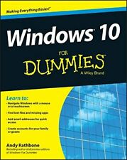 Windows 10 For Dummies (For Dummies (Computers)) by Rathbone, Andy Book The Fast