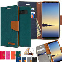 GOOSPERY® Shock Resistant Slim Flip Leather Wallet Case for Galaxy Note10+ S10 9