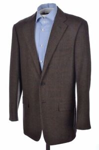 CARUSO Brown Check Textured CASHMERE WOOL Blazer Sport Coat Jacket - 40 R