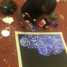 "ABORIGINAL ART PAINTING by BETTY MBITJANA ""AWELYE & BUSH MELON Authentic, WIP"