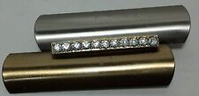 Costume jewelry Twin bar w/ stones brooch / pin simulated diamond stones