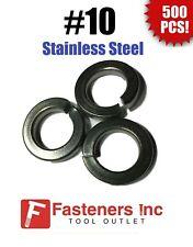 (Qty 500) #10 Stainless Steel Regular Split Lock Washers Type 18-8