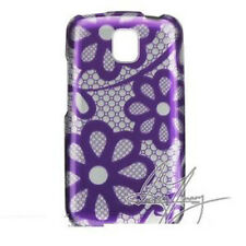 Purple Lace Hard Case Snap on Cover LG Optimus T P509