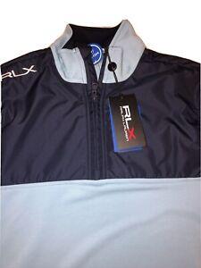 Ralph Lauren RLX Sand Hollow 1/4 Zip Golf Performance Pullover Blue L NWT $168
