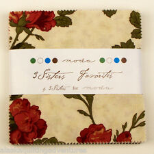 """Moda FABRIC Charm Pack ~ 3 SISTER'S FAVORITES ~ by 3 Sister's - 42 - 5"""" squares"""