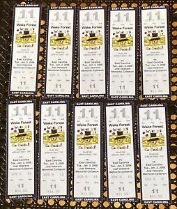 2006 East Carolina @ Wake Forest Demon Deacons College Basketball Ticket Stubs