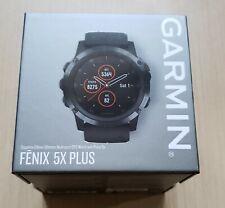 Garmin Fenix 5X PLUS Sapphire     DLC Carbon Gray  with Black Band