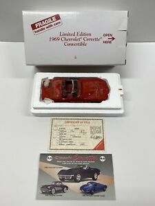 Danbury Mint 1969 Chevrolet Corvette Conv. Limited Edition RED (MINT IN BOX)