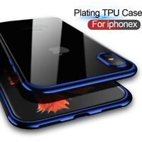 For iPhone X Edition Case Electroplate Clear Soft TPU Hybrid Slim Cover LOT
