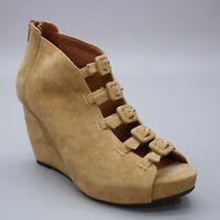 L'Amour Des Pieds Ladies 7.5 M Ineeda Wedge Tan Suede Back-zip Gladiator Sandals