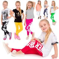 Children Full Length Leggings Power Girl Print Cotton Kids Pants All Ages CHPWG
