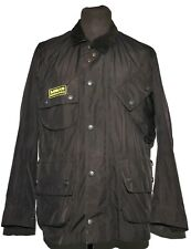 GREAT MEN BARBOUR INTERNATIONAL FEATHERWEIGHT RAIN JACKET T147 SIZE SMALL BLACK