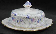 Royal Stafford BLUEBELL TIME Round Covered Butter Dish Bone GREAT CONDITION