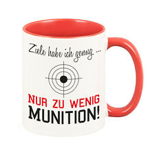 """Cup """"goals I have enough... just too little Ammunition"""" Gift Idea Birthday"""