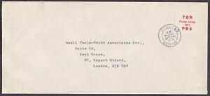TDR Postal Strike 1971 PBR Chelsea pmk: Basil Toole-Stott Assoc;Compliments Slip